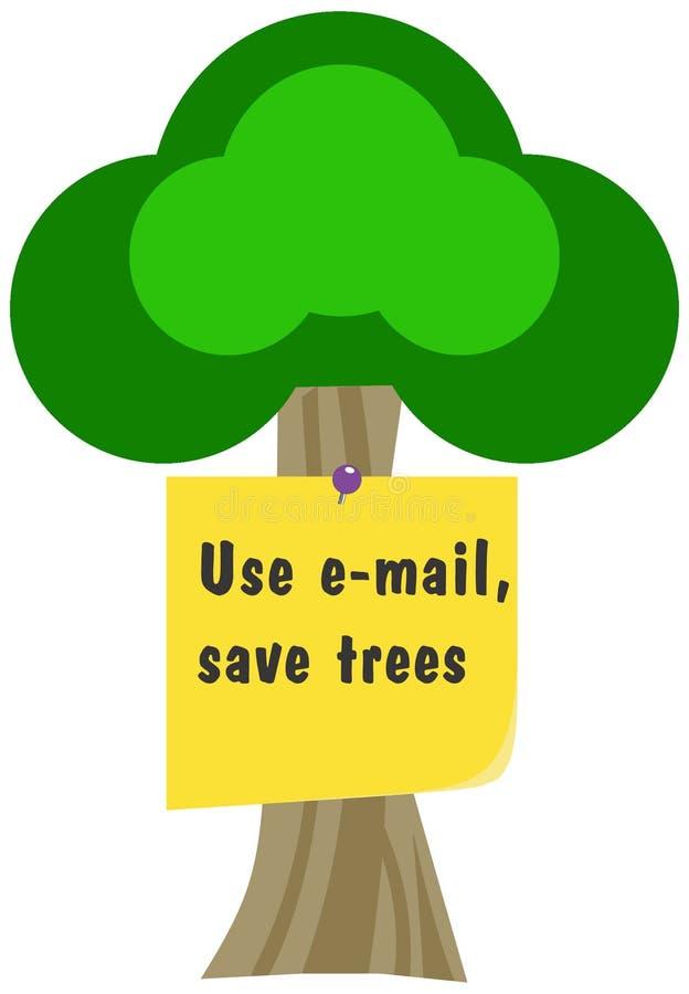 spara trees royaltyfri illustrationer