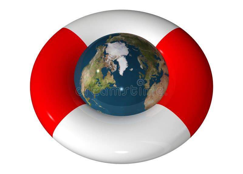 spara världen vektor illustrationer