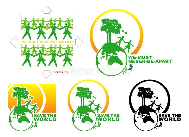 spara världen stock illustrationer