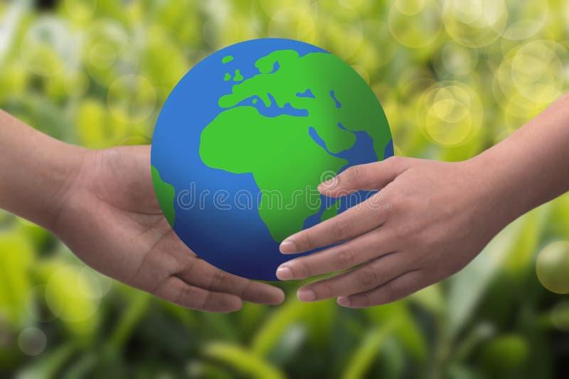 Spara världsbakgrundsbegreppet stock illustrationer