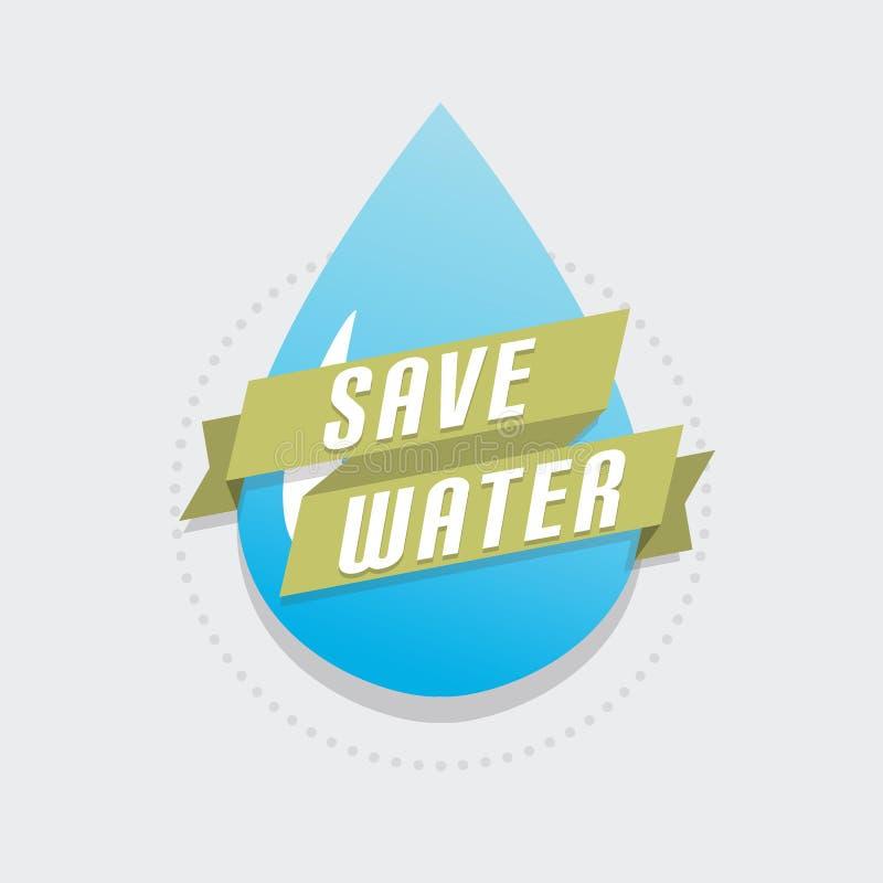 spara vatten vektor illustrationer