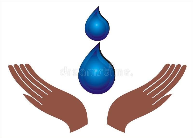 spara vatten stock illustrationer