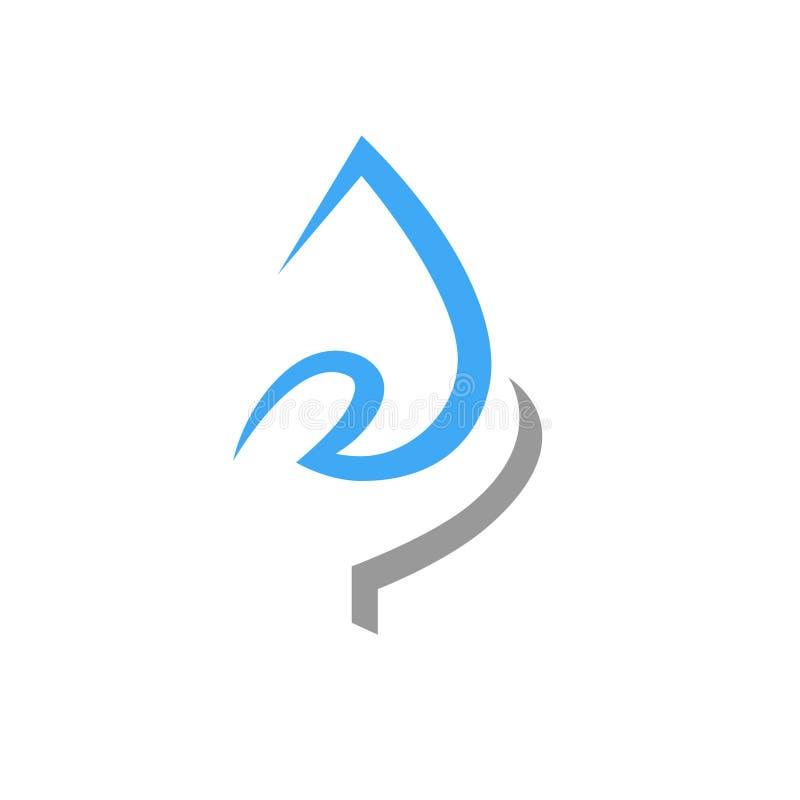 Spara vattenbegreppssymbolet, symbol på vit royaltyfri illustrationer