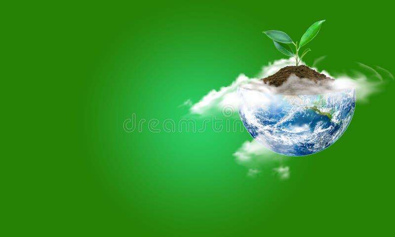 Sparande världsekologibegrepp Best?ndsdelar av denna avbildar m?blerat av NASA arkivbild
