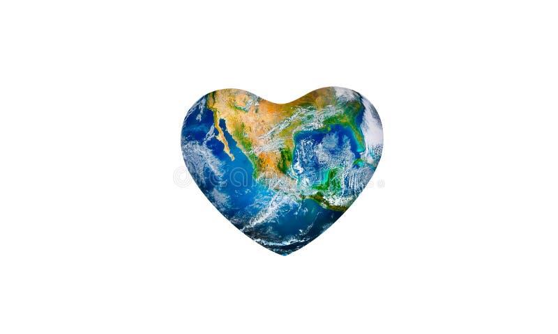 Sparande världsekologibegrepp Best?ndsdelar av denna avbildar m?blerat av NASA royaltyfri fotografi