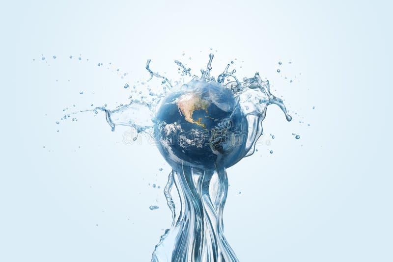 Sparande vatten- och världsmiljöskyddbegrepp royaltyfri bild