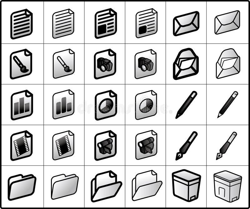 sparar symbolspost royaltyfri illustrationer