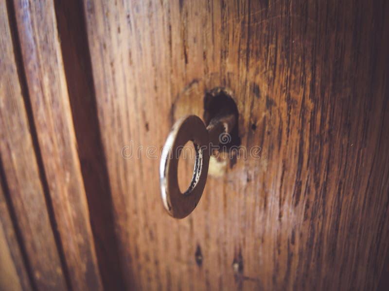 Sparato di vecchia chiave fotografia stock libera da diritti