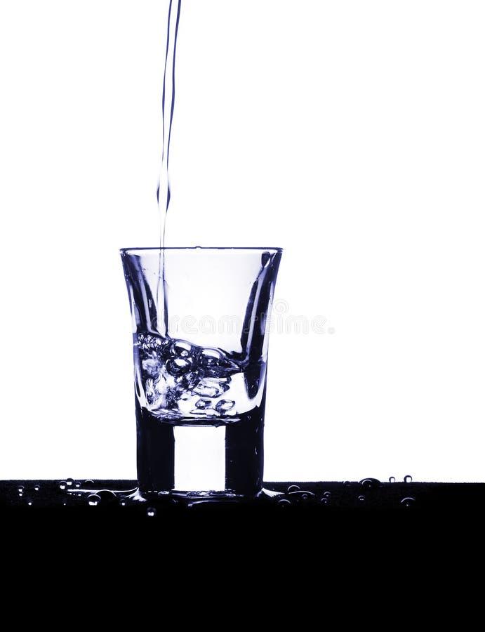 Sparato di vodka fotografie stock libere da diritti