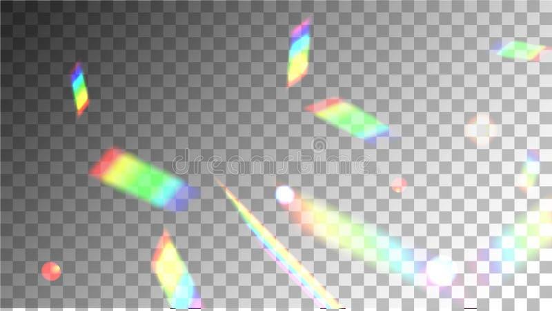 Sparcle明亮的呈虹彩反射 皇族释放例证
