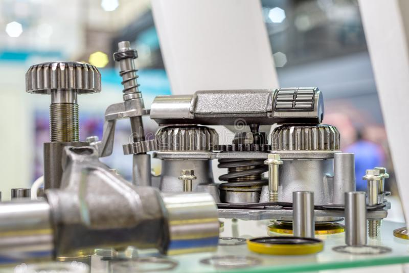 Spare parts of the automobile engine. stock image