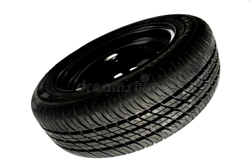 Spare tyre royalty free stock images