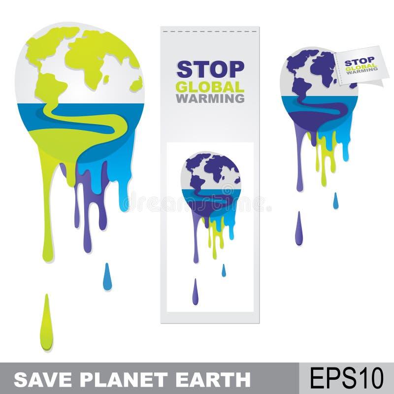 Sparen aarde royalty-vrije illustratie