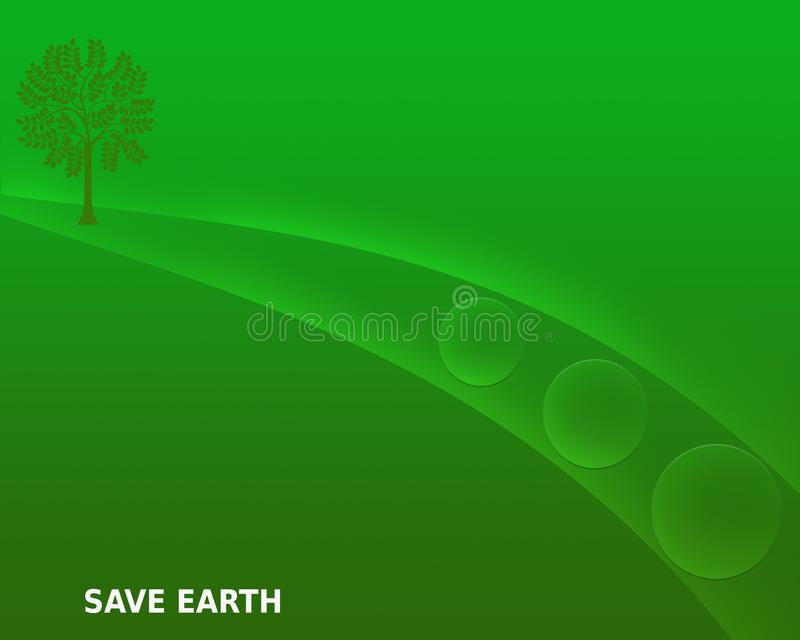 Sparen Aarde sparen Aard bewaar Milieu Groene Gradiënt Abstracte Achtergrond royalty-vrije illustratie