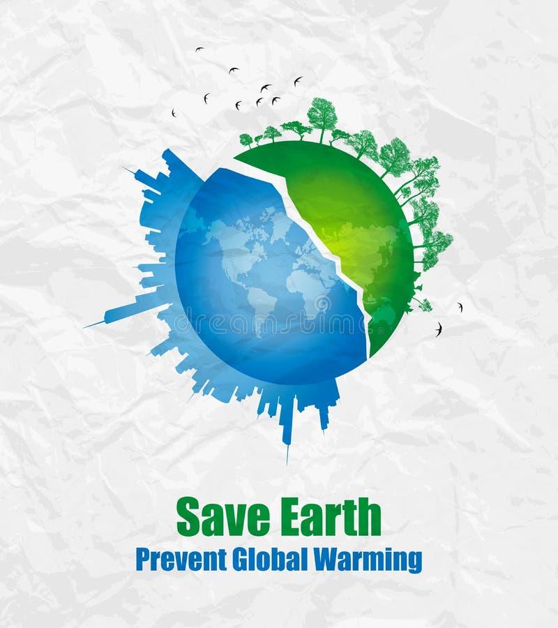 Sparen aarde-Milieu concept stock illustratie