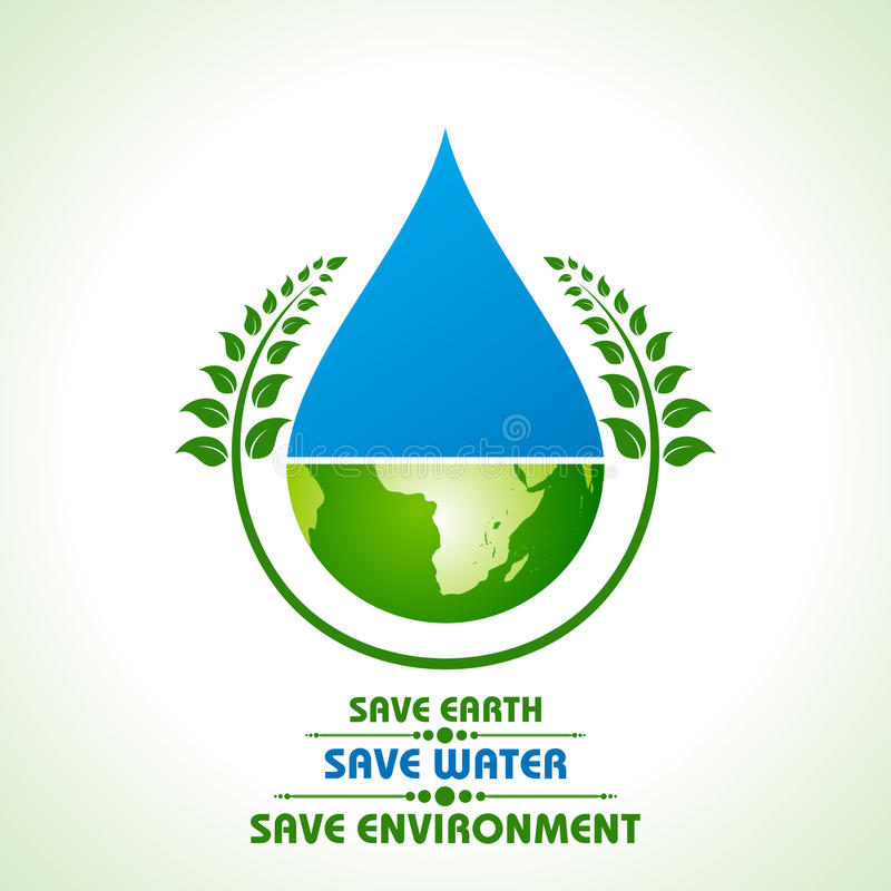 Sparen aarde, water en milieuconcept vector illustratie