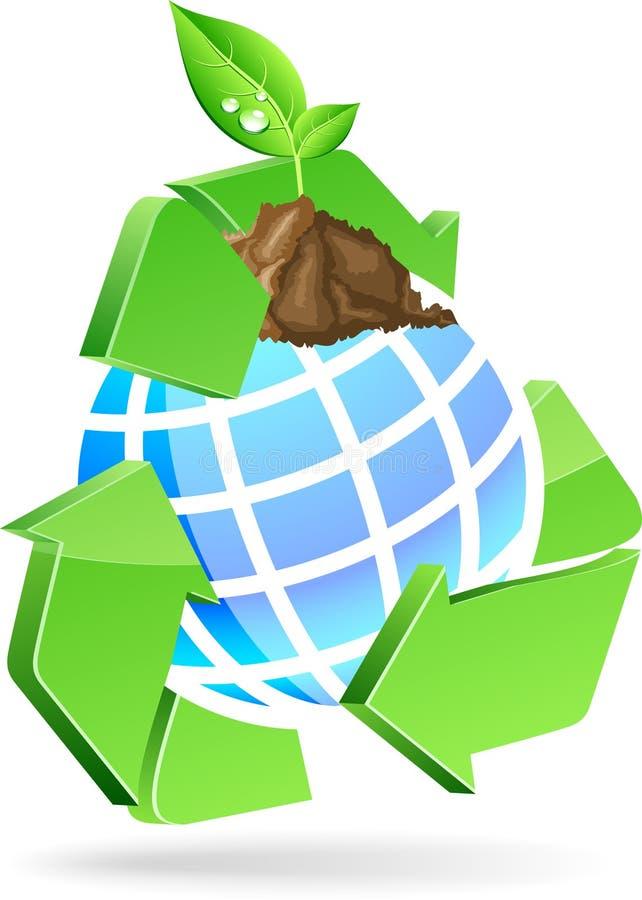 Sparen aardesymbool. stock illustratie