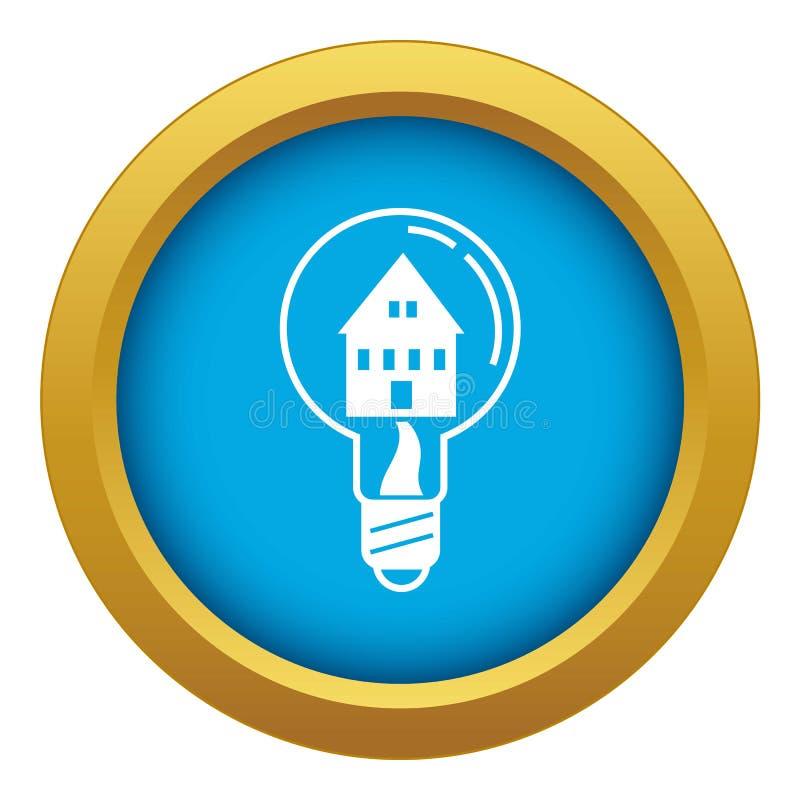 Sparen blauwe geïsoleerde vector van het huis de lichte pictogram stock illustratie