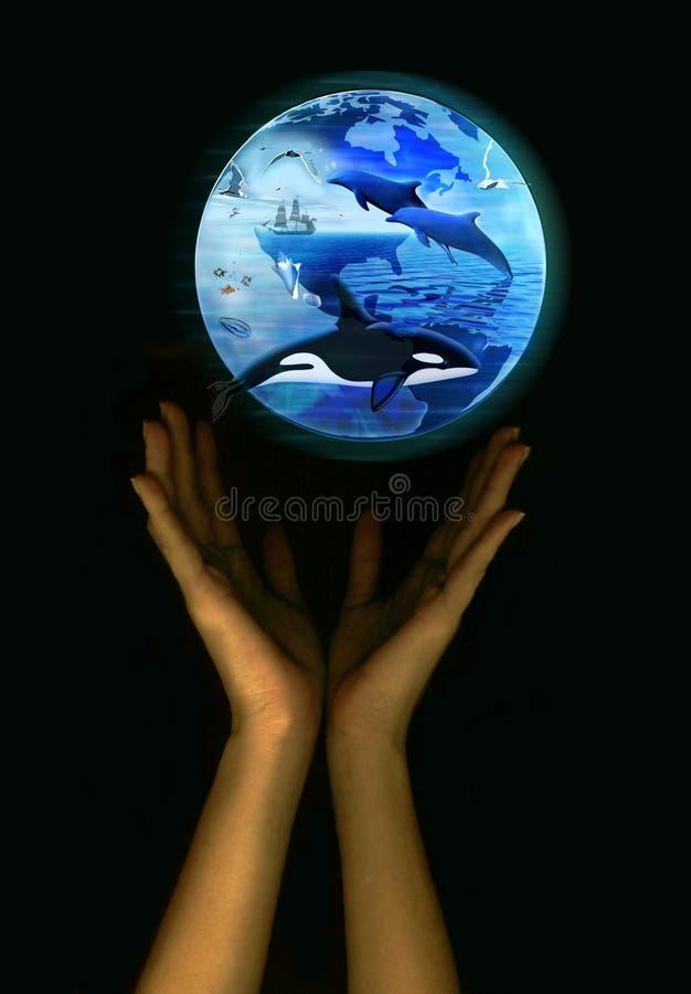 Sparen de aarde - het mariene leven royalty-vrije stock foto