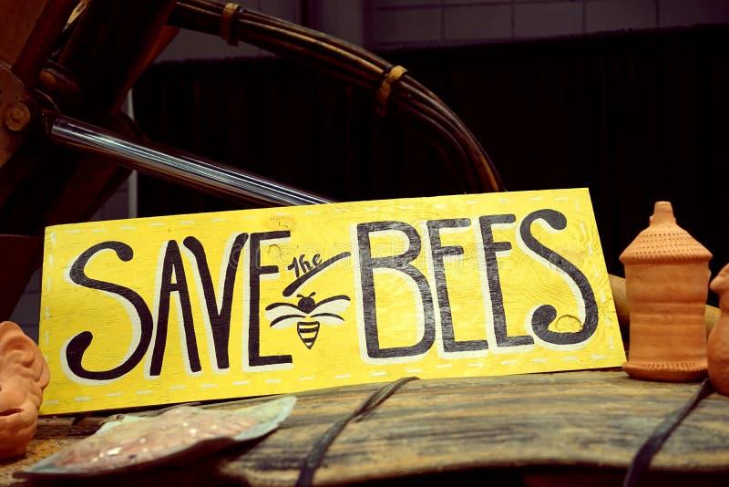 Sparen de Bijen! stock foto