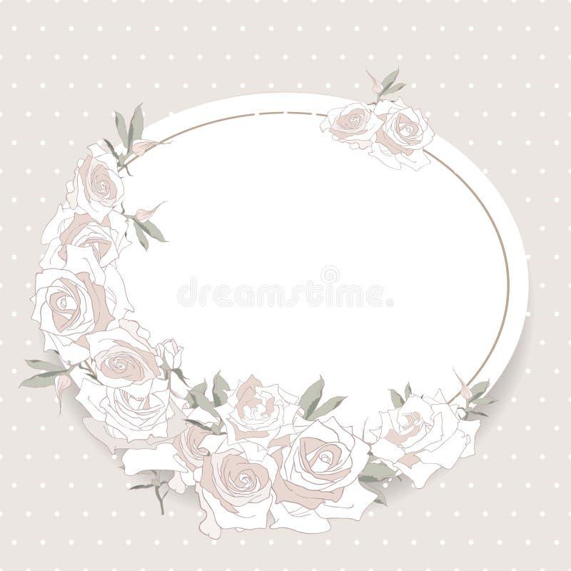 Sparen de datum bloemenkaart vector illustratie