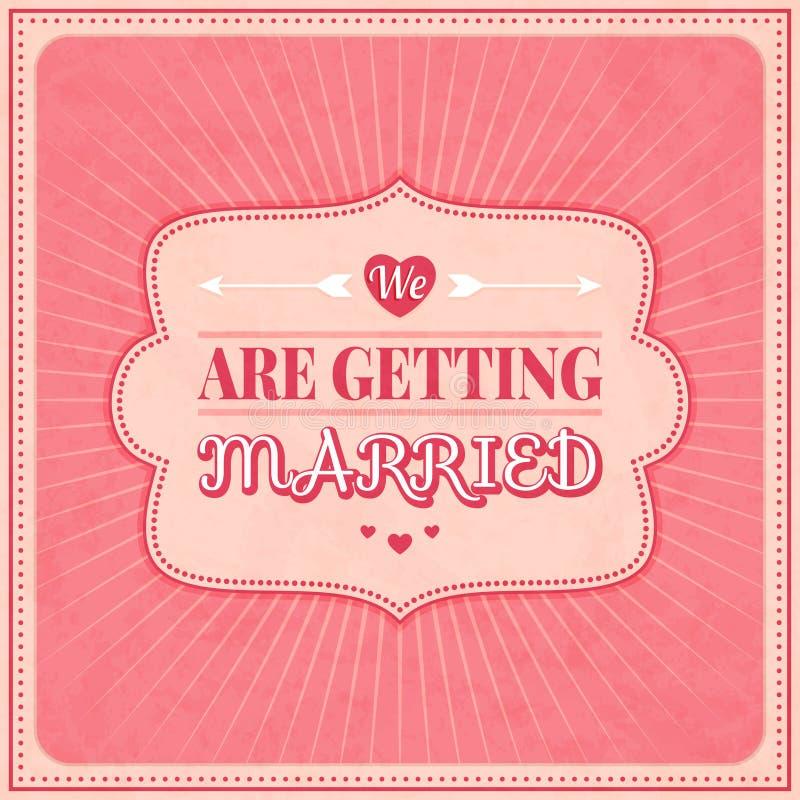 Sparen de Datum, de Kaart van de Huwelijksuitnodiging stock illustratie