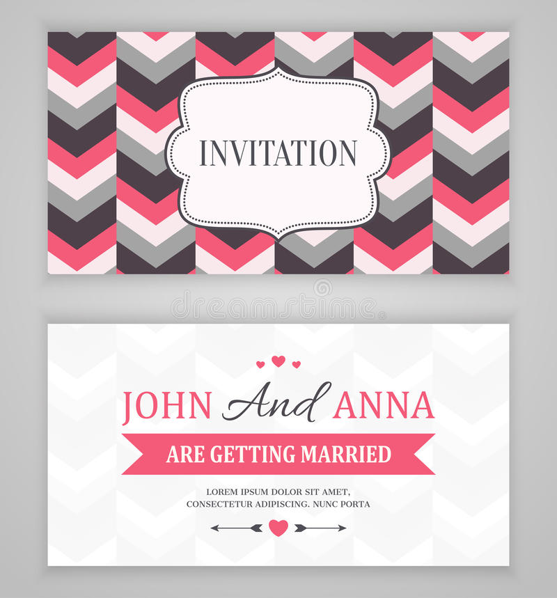Sparen de Datum, de Kaart van de Huwelijksuitnodiging vector illustratie
