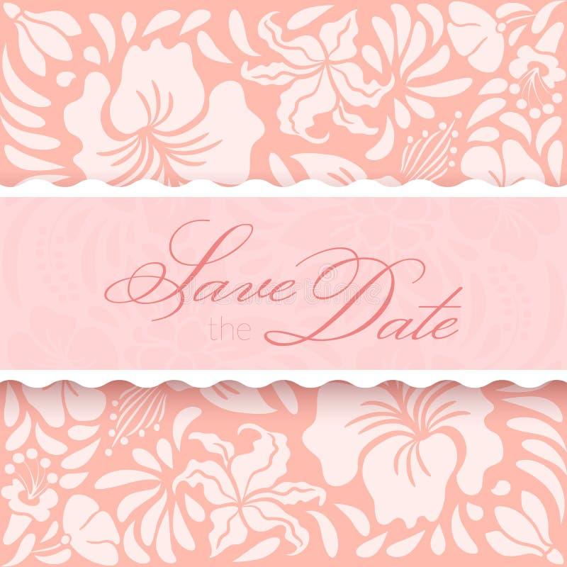 Sparen de datumkaart vector illustratie