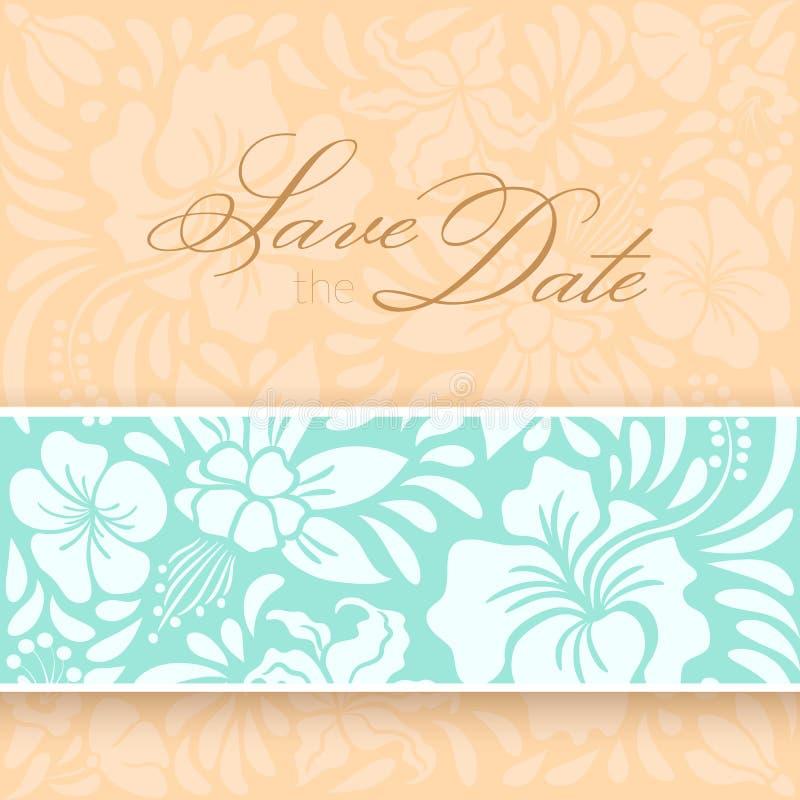 Sparen de datumkaart royalty-vrije illustratie