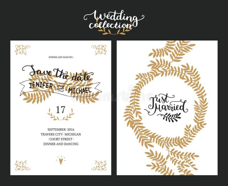 Sparen de Datumkaarten royalty-vrije illustratie