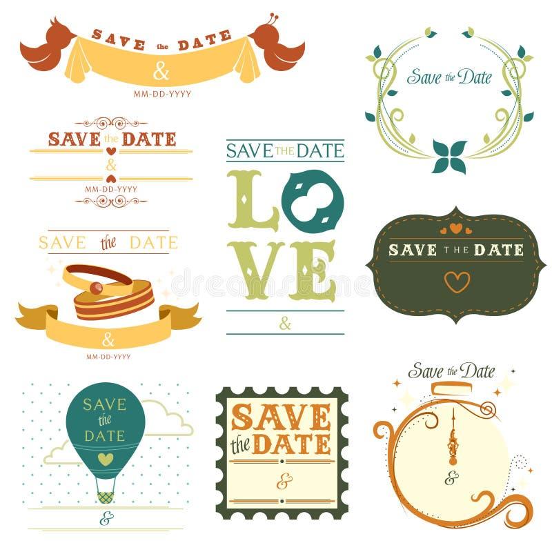 Sparen de datummarkering vector illustratie