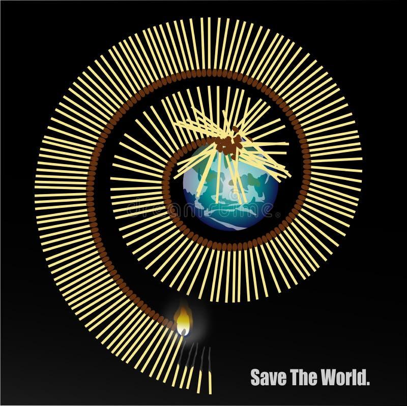Sparen de wereld vector illustratie