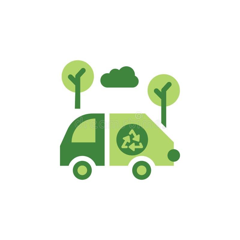 Sparen de wereld, auto gekleurd pictogram Elementen van sparen het pictogram van de aardeillustratie De tekens en de symbolen kun stock illustratie