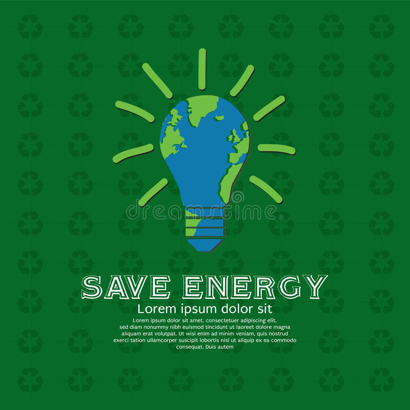Sparen energie. royalty-vrije illustratie