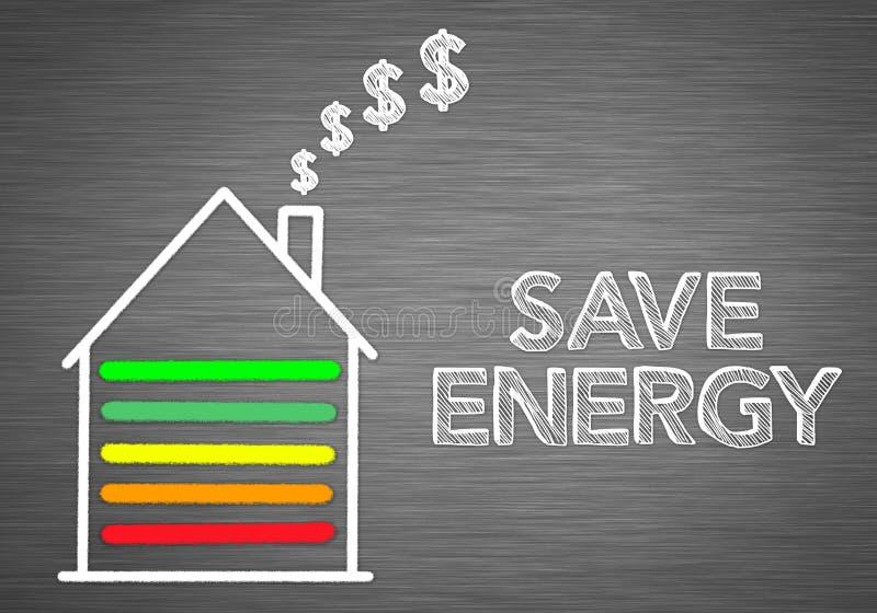 Sparen Energie thuis stock illustratie