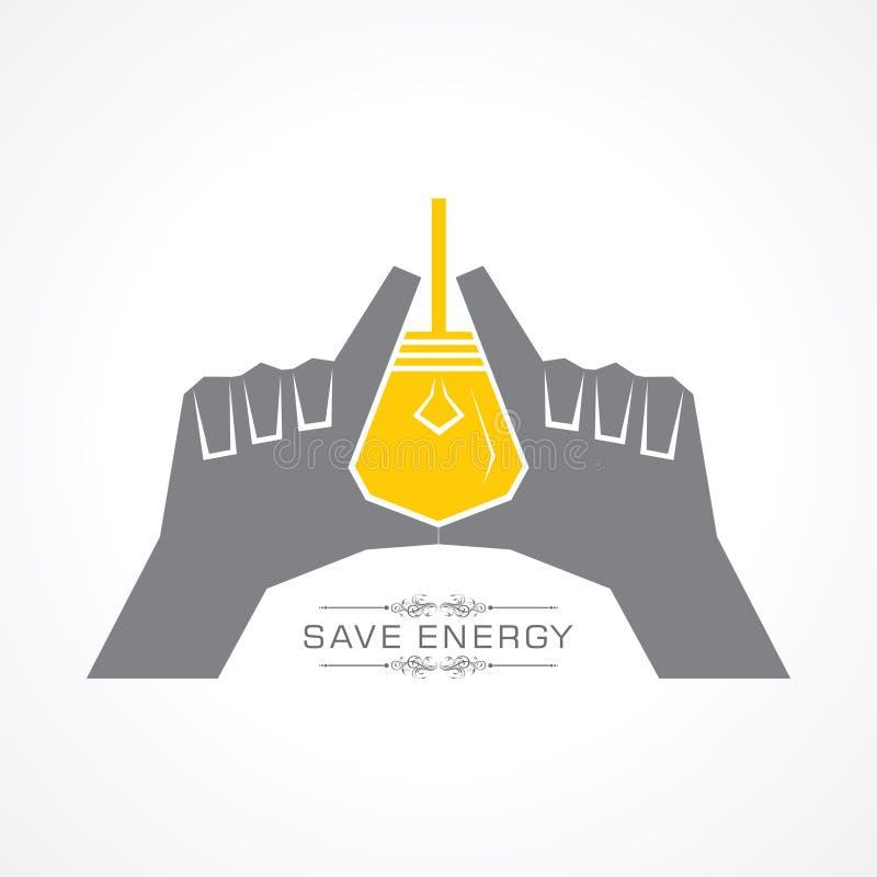 Sparen energieconcept vector illustratie
