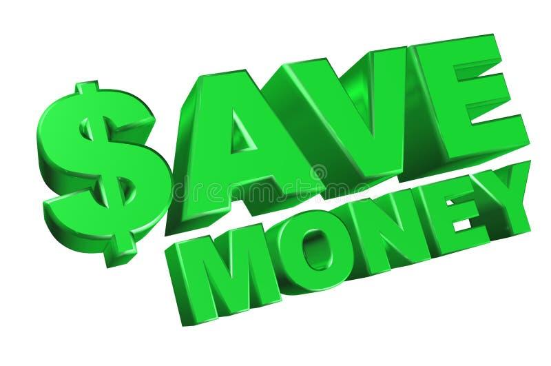 Sparen geld vector illustratie