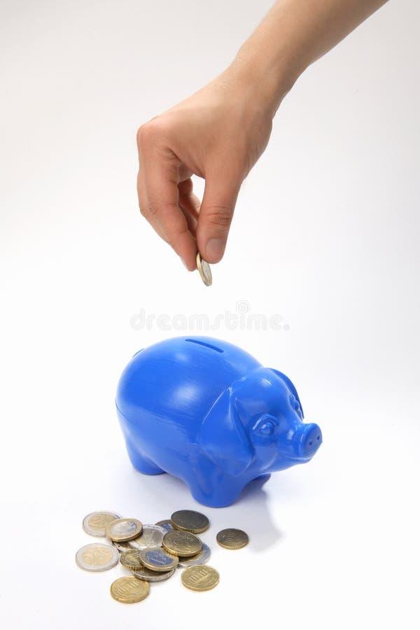 Sparen geld-dozen stock afbeelding