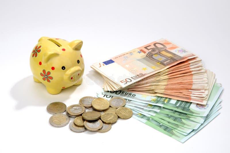 Sparen geld-dozen stock afbeeldingen