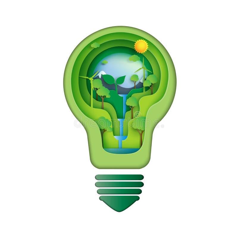 Sparen het concept van het energieidee royalty-vrije illustratie