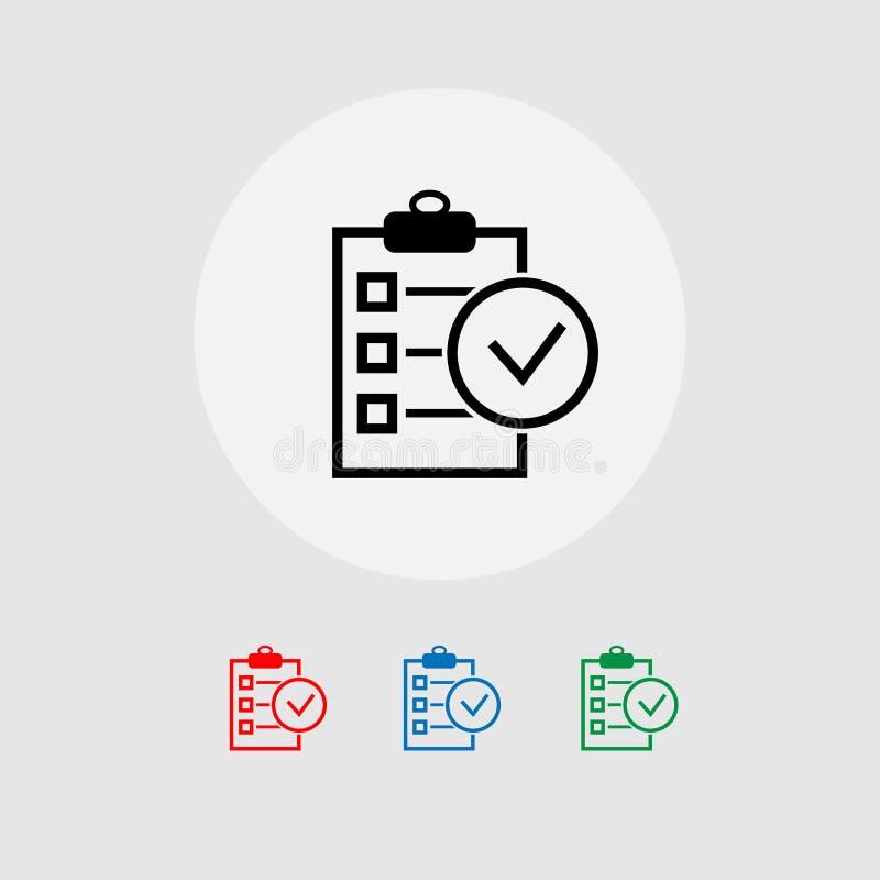 Sparen het de lijstconcept van de klembordcontrole zaken Vector illustratie banner vector illustratie