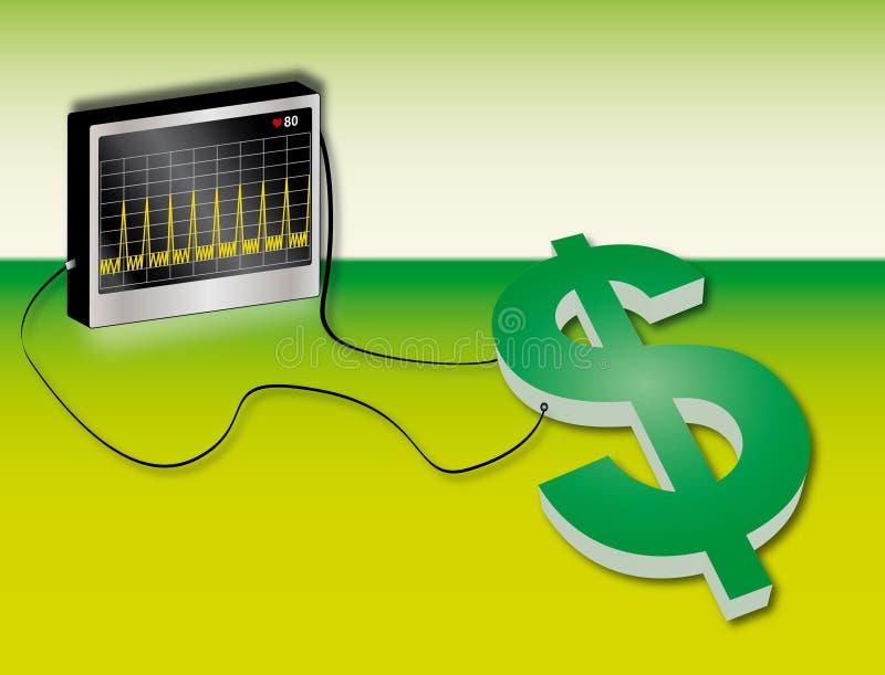 Sparen het geld vector illustratie
