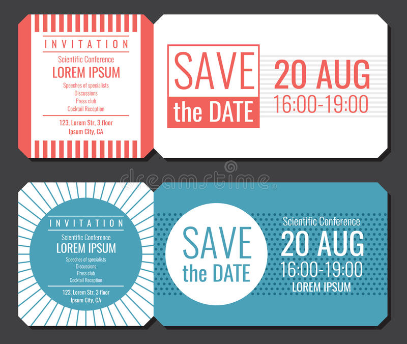 Sparen het het kaartjes vectorontwerp van de datum minimalistische uitnodiging Het moderne malplaatje van huwelijkskaarten stock illustratie