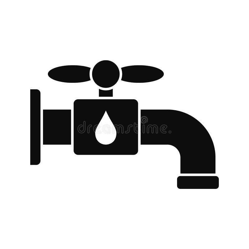 Sparen het pictogram van de waterkraan, eenvoudige stijl royalty-vrije illustratie