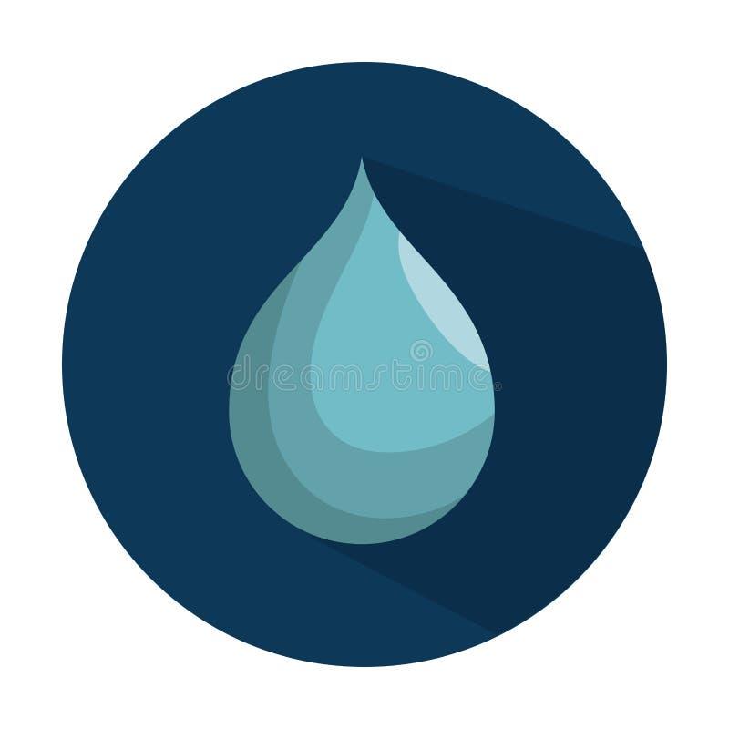 Sparen het waterpictogram vector illustratie