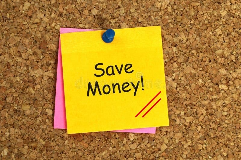 Sparen kleverig geld vector illustratie