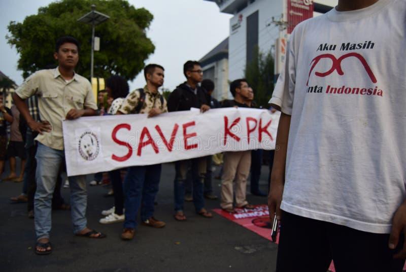 Sparen KPK voor Indonésia stock afbeelding
