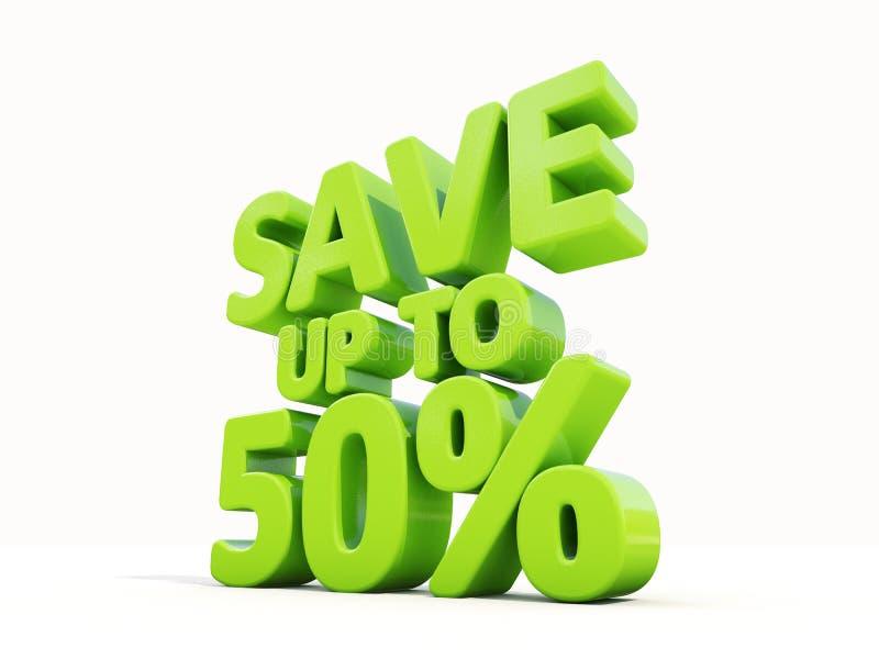 Sparen maximaal 50% stock illustratie
