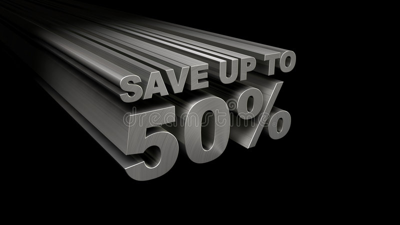 SPAREN MAXIMAAL 50% HOOGSTE MENING stock foto