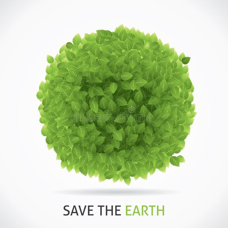 Sparen Onze Aarde stock illustratie